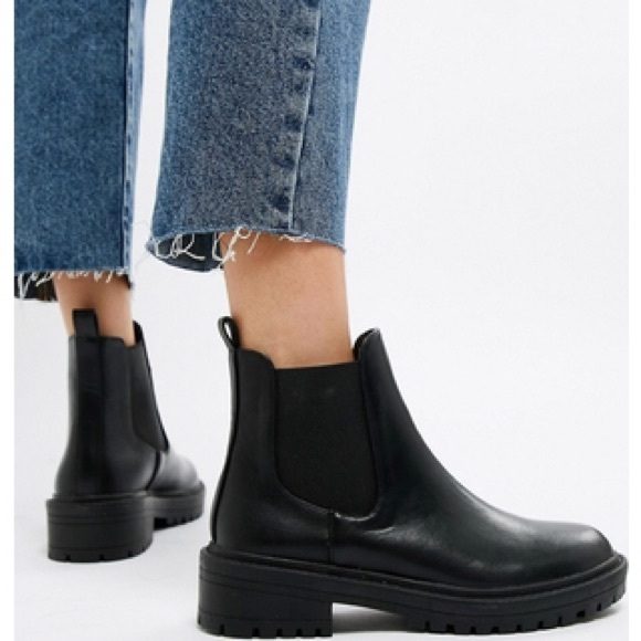 df5be621874 RAID Radar Black Chunky Chelsea Boots